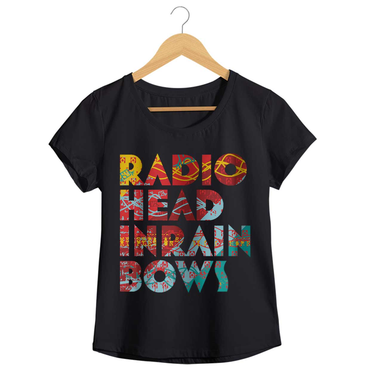 Camiseta In Rainbows - Radiohead - Feminino