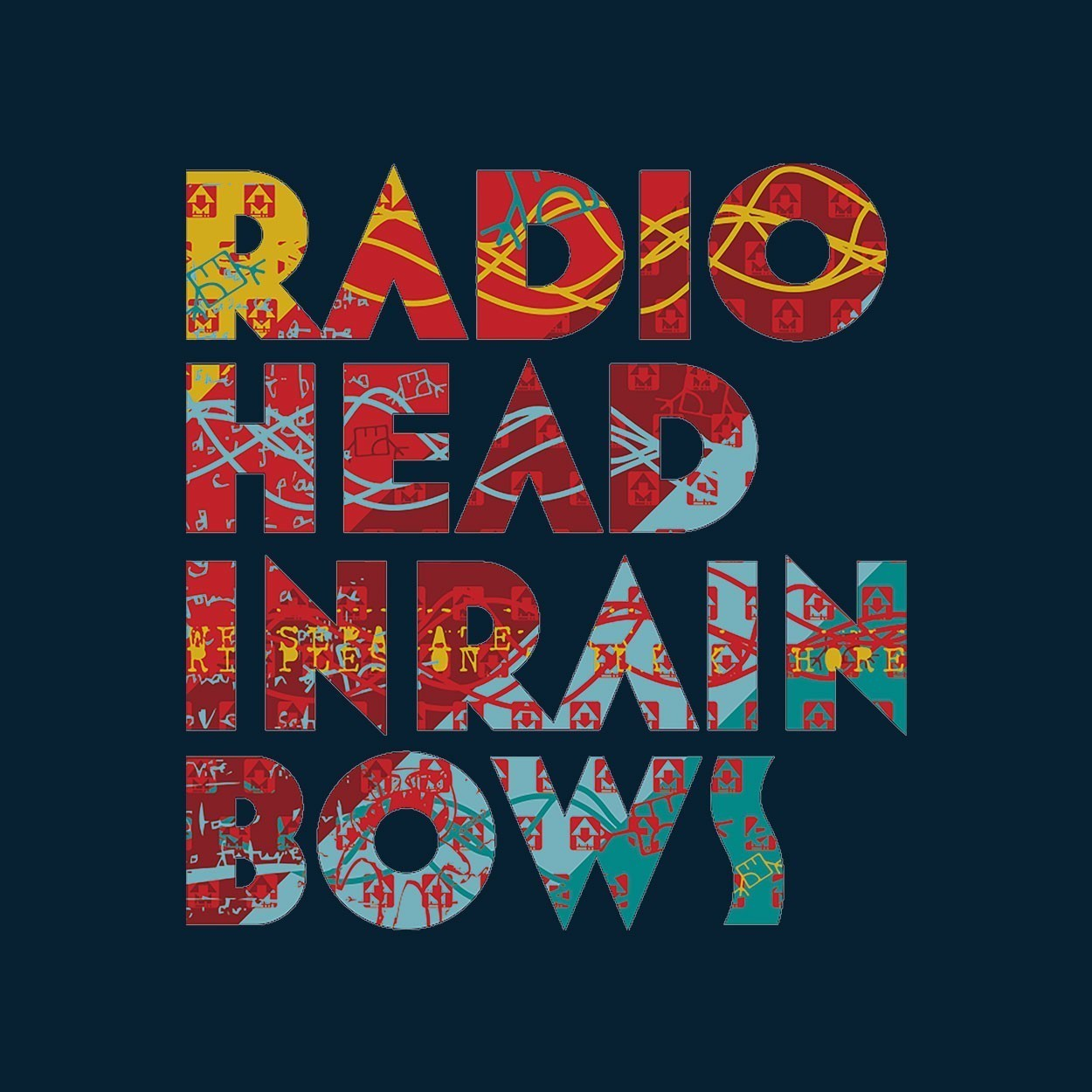 Camiseta In Rainbows - Radiohead - Masculino