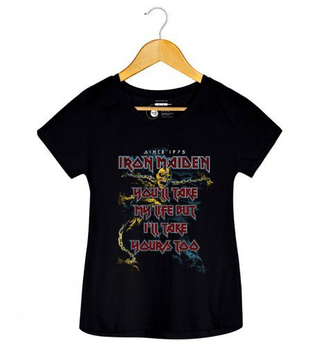 Camiseta  - The Trooper -  Iron Maiden - Feminino
