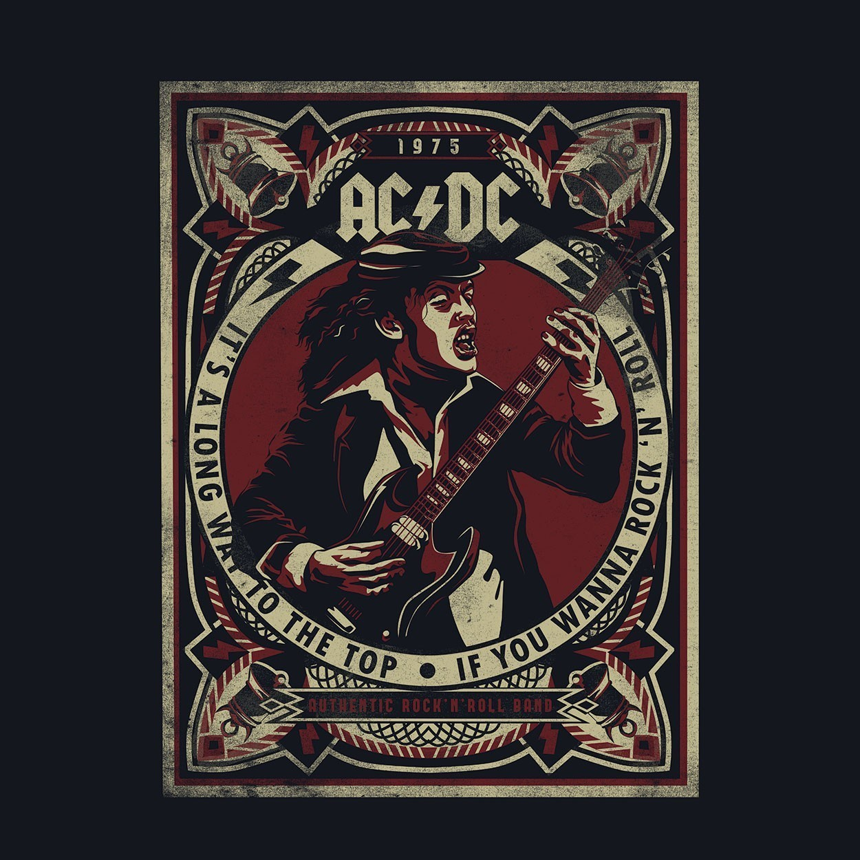 Camiseta It's a Long Way to the Top - AC/DC - Masculino