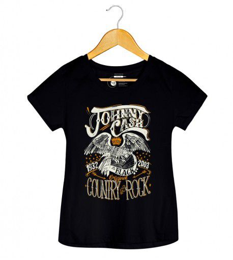Camiseta - Country Rock - Johnny Cash - Feminino