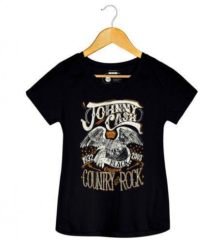 Camiseta - Country Rock - Johnny Cash - Feminino