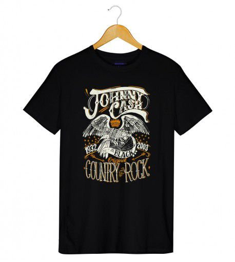 Camiseta Country Rock - Johnny Cash - Masculino