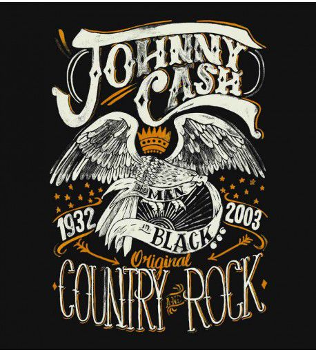 Camiseta - Country Rock - Johnny Cash - Masculino