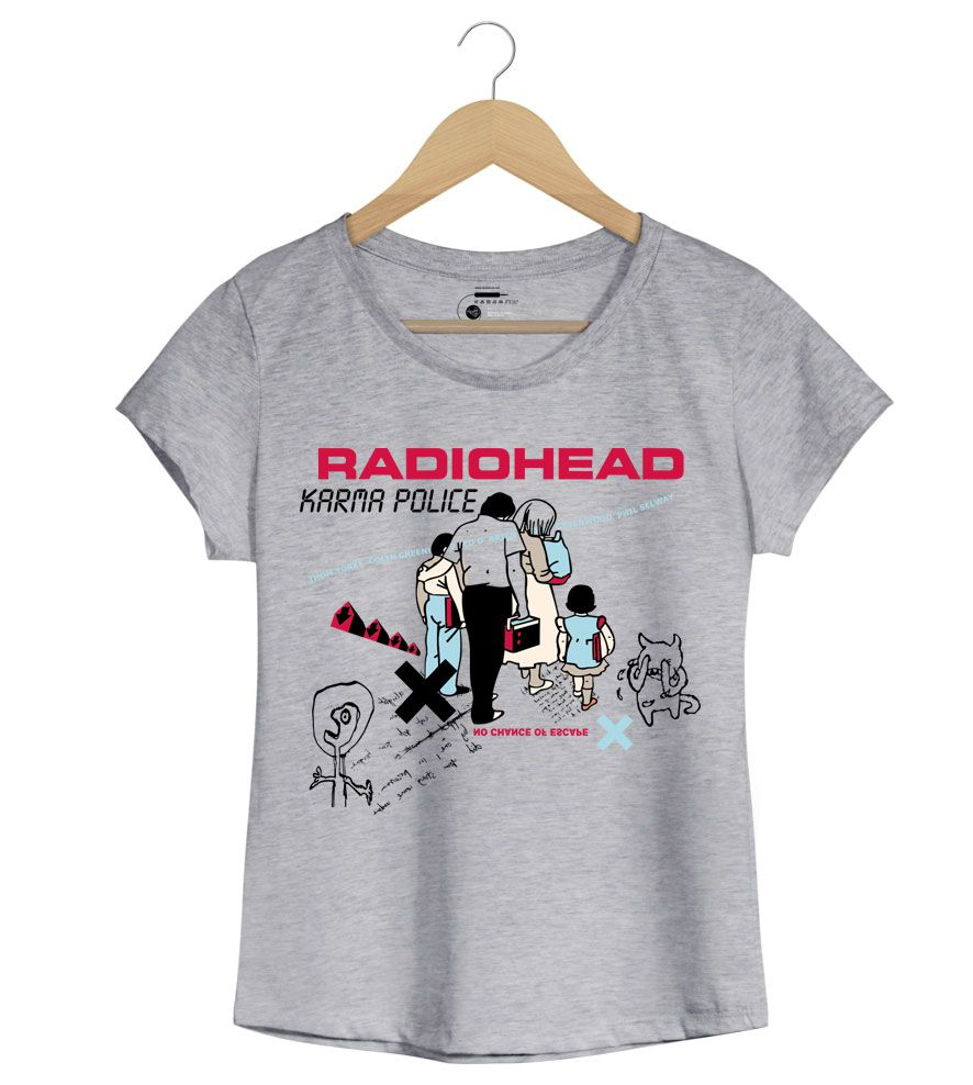 Camiseta Karma Police - Radiohead - Feminino