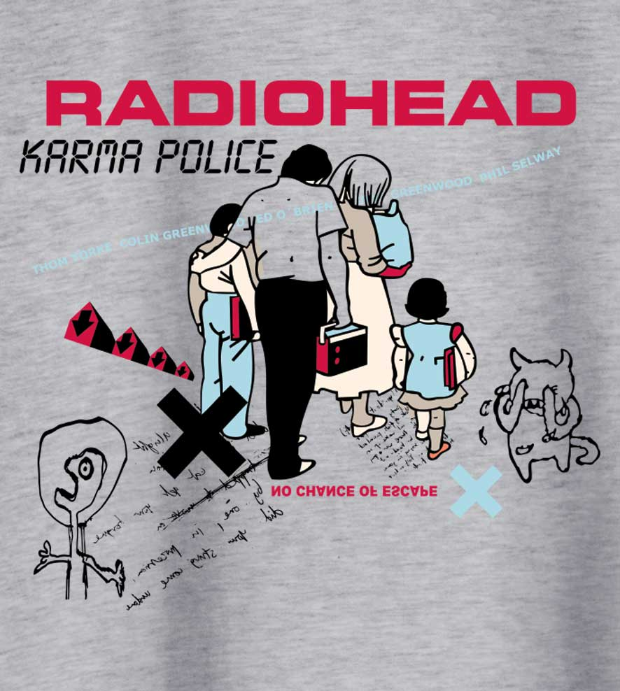 Camiseta - Karma Police - Radiohead - Masculino