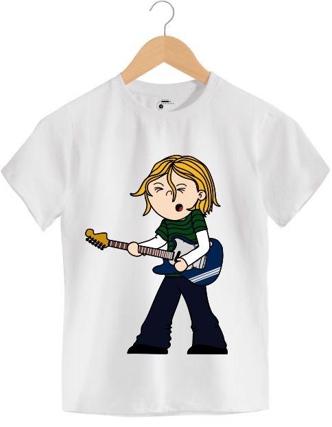 Camiseta - Kurt Donald Cobain - Nirvana - Infantil