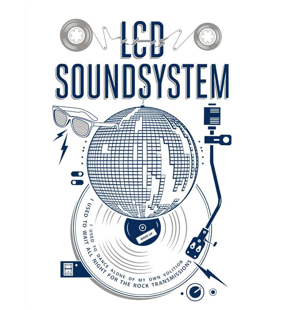 Camiseta - Lcd Soundsystem - American Dream - Masculino