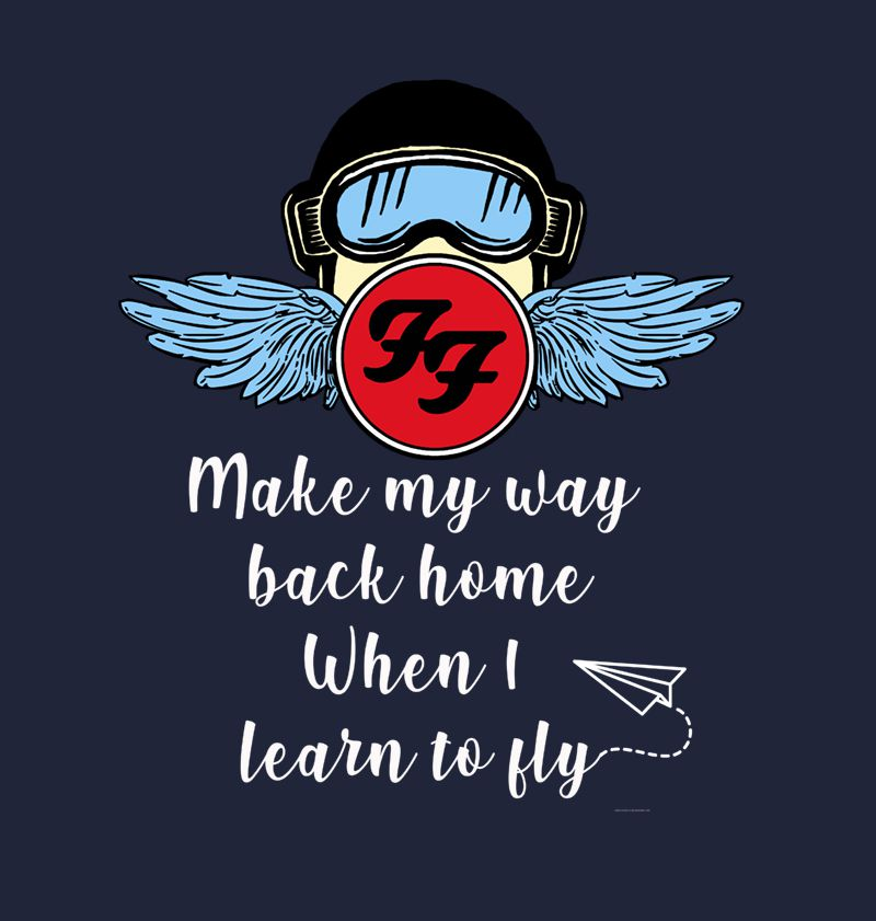 Camiseta - Learn to Fly - Foo Figthers - Masculino