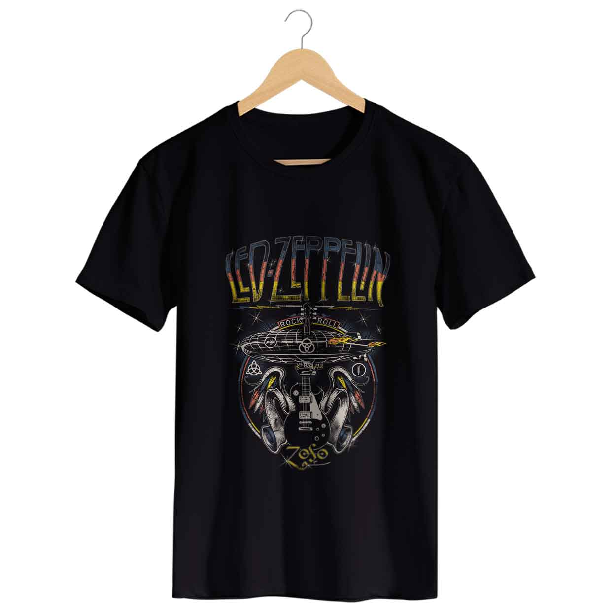 Camiseta - Led Zeppelin Rock and Roll - Masculino
