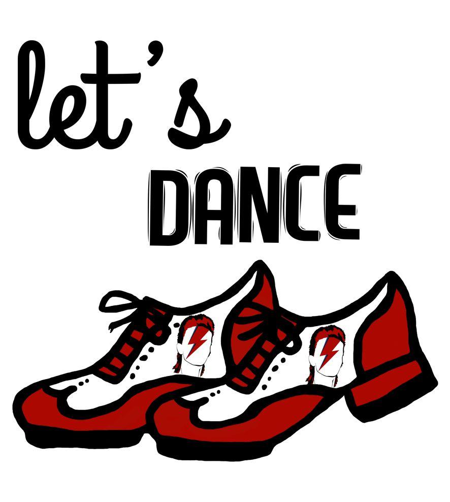 Camiseta - Let's Dance - David Bowie - Infantil