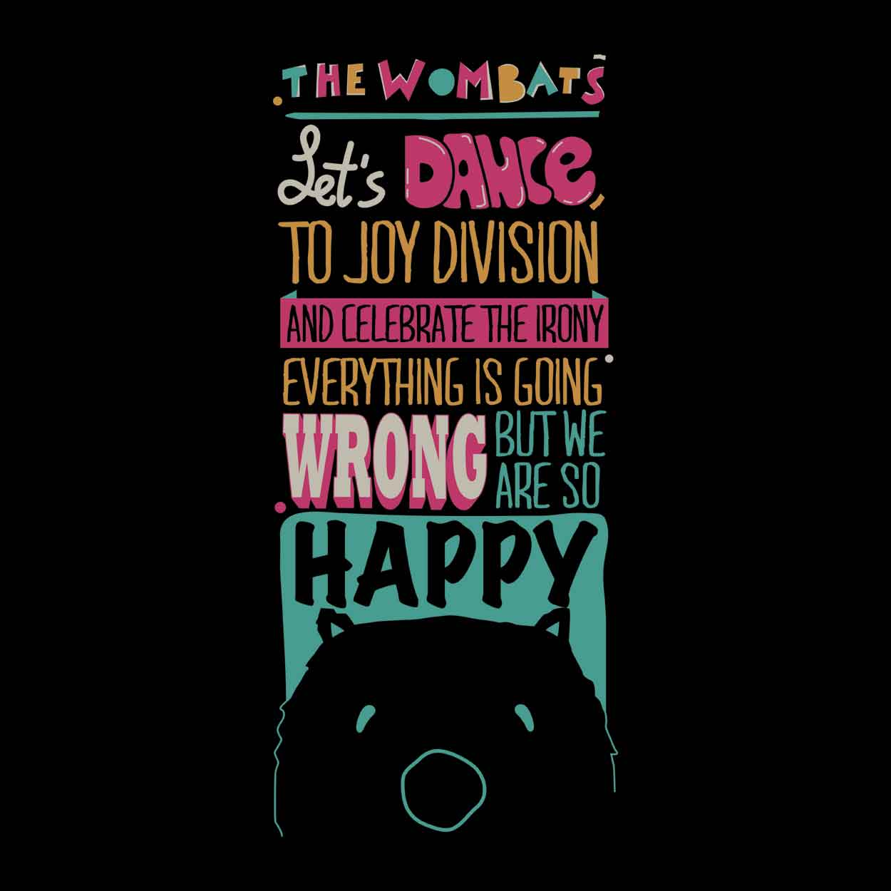 Camiseta Let's Dance - The Wombats - Masculino