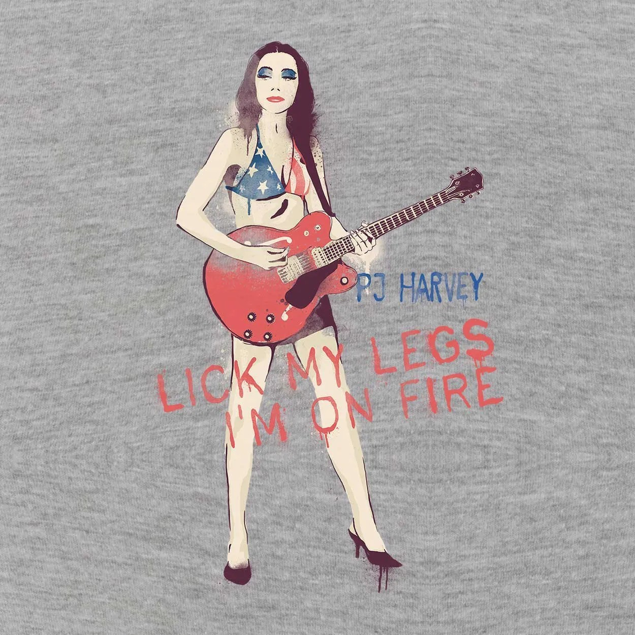 Camiseta Lick My Legs - PJ Harvey - Masculino