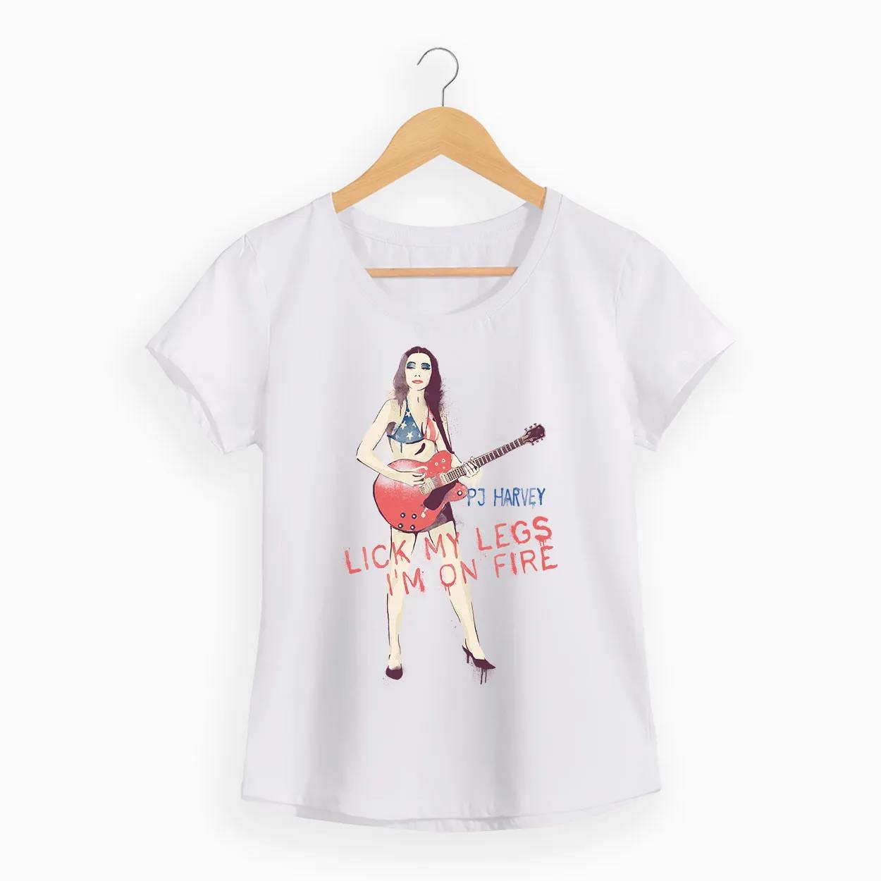 Camiseta  - Lick My Legs - PJ Harvey - Feminino