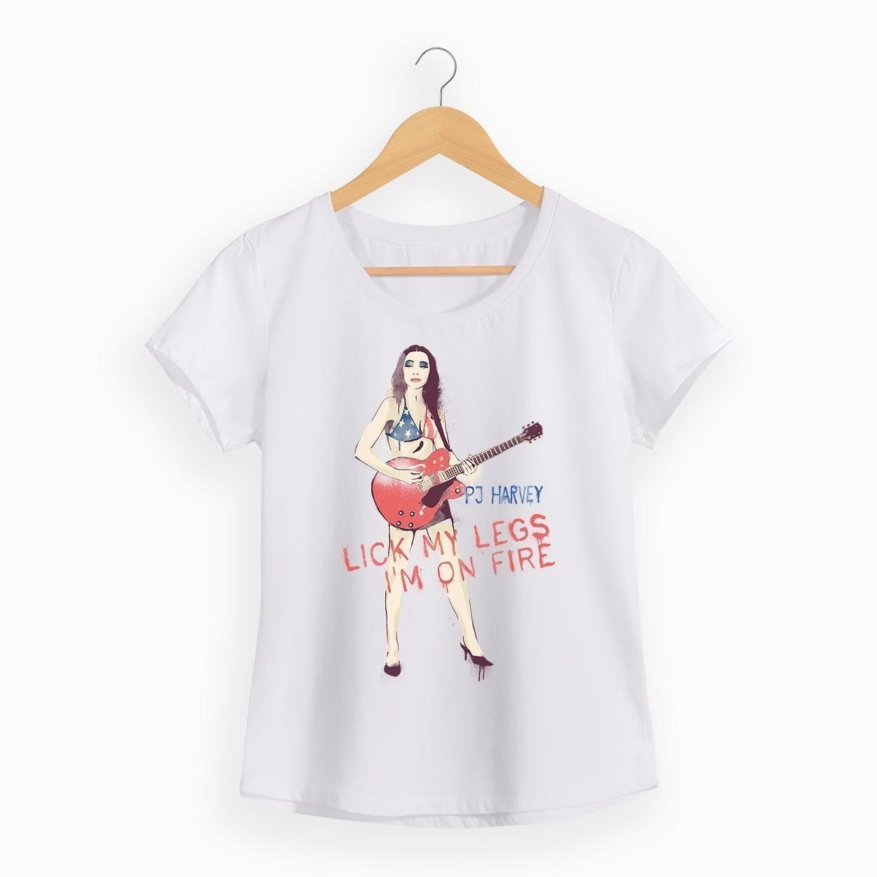 Camiseta Lick My Legs - PJ Harvey - Feminino
