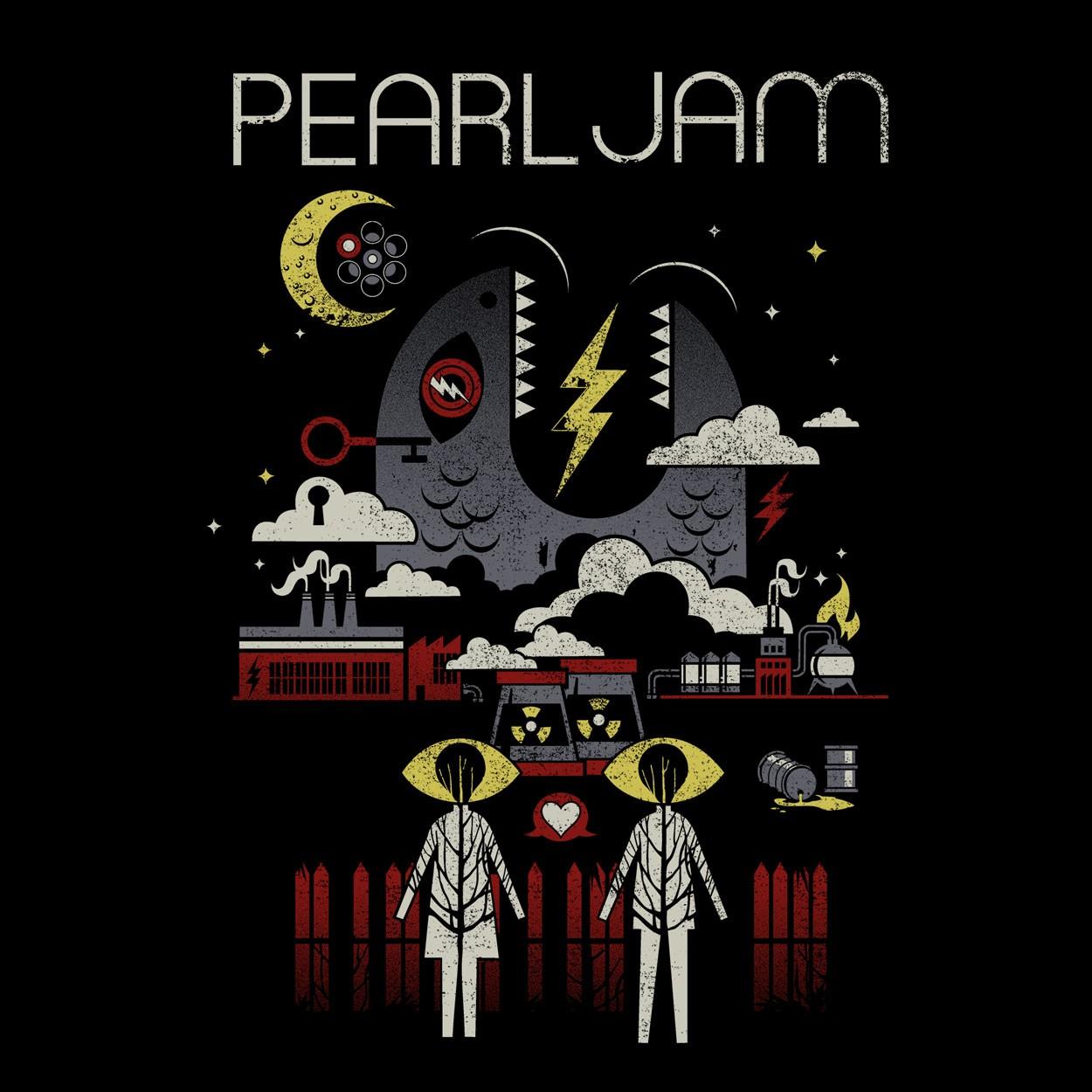 Camiseta Lightning Bolt - Pearl Jam - Masculino