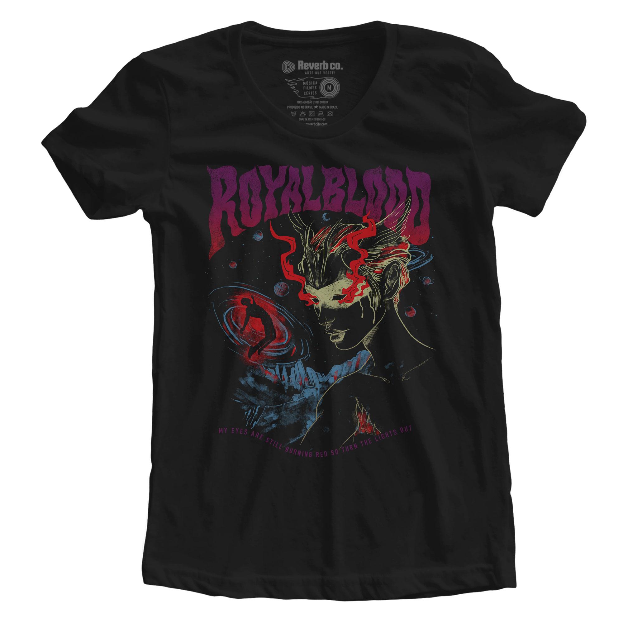 Camiseta Lights Out - Royal Blood - Feminino