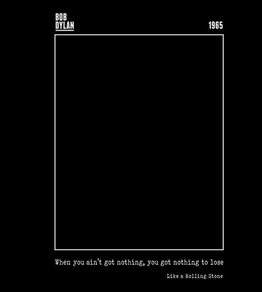 Camiseta Like A Rolling Stone - Bob Dylan - Infantil