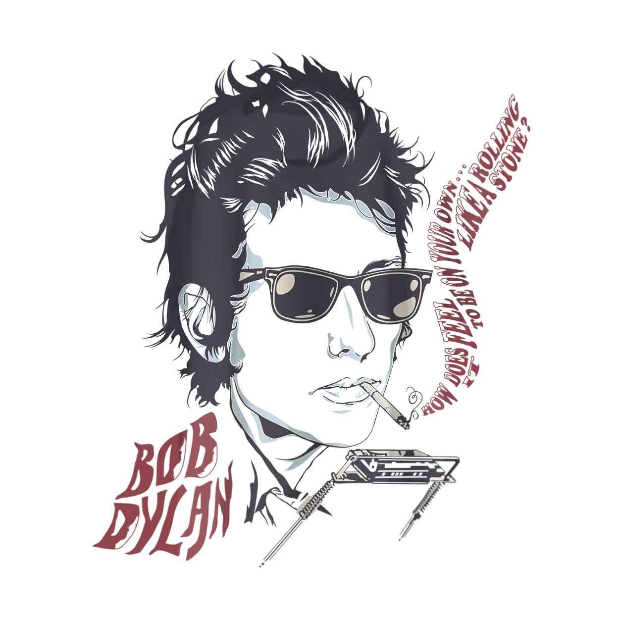 Camiseta - Like a Rolling Stones, gaita - Bob Dylan - Masculino