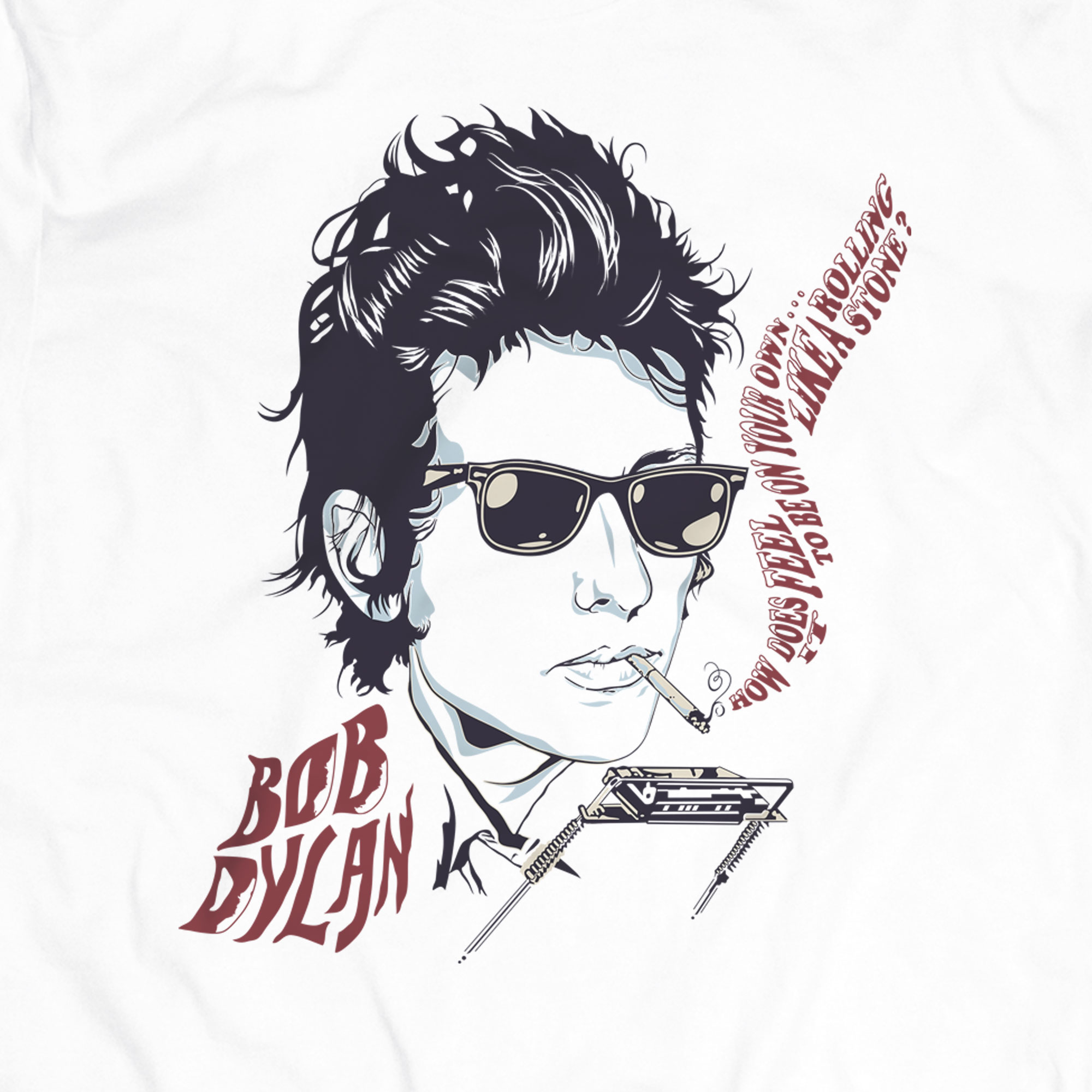 Camiseta How Does it Feel - Bob Dylan - Masculino