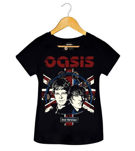 Camiseta - Live Forever - Oasis - Feminino
