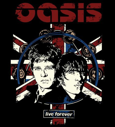 Camiseta - Live Forever - Oasis - Masculino