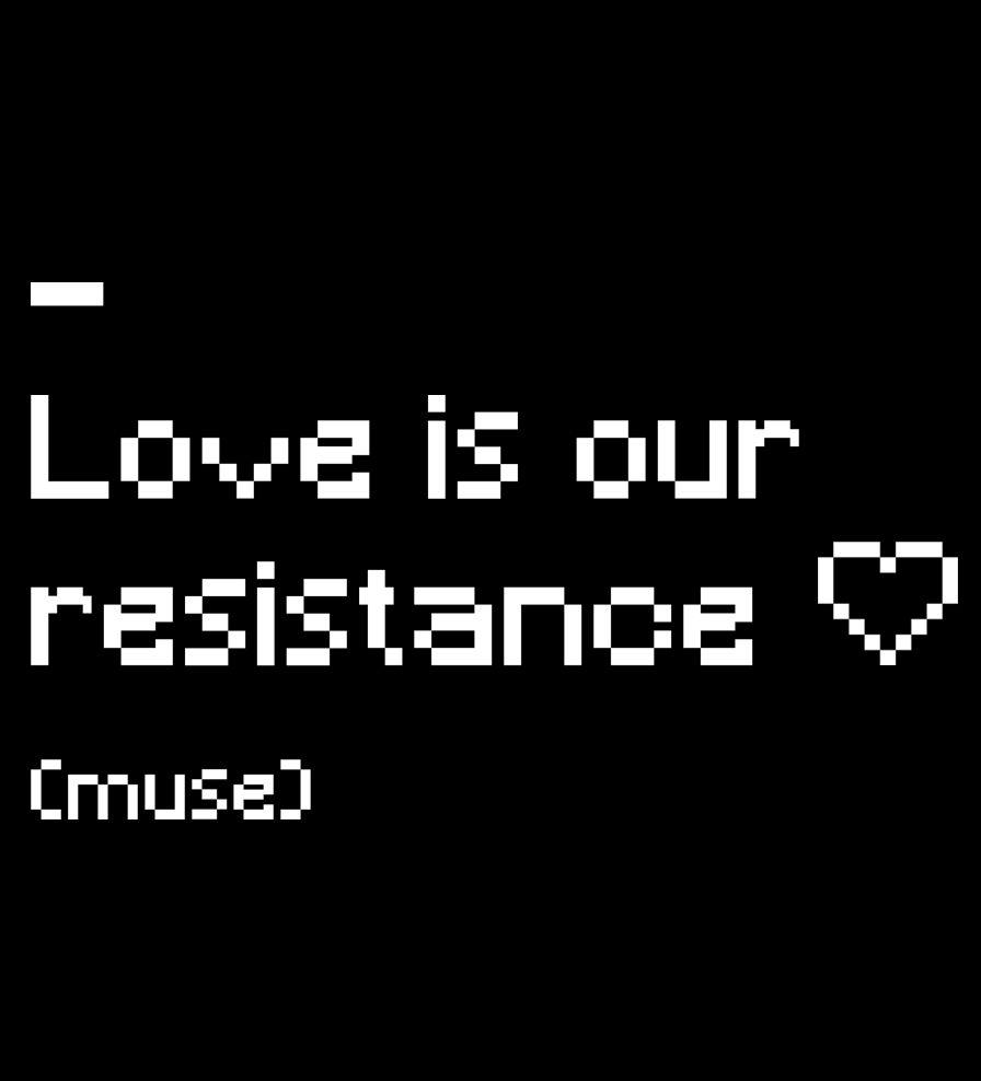 Camiseta - Love Is Our Resistance - Muse - Infantil