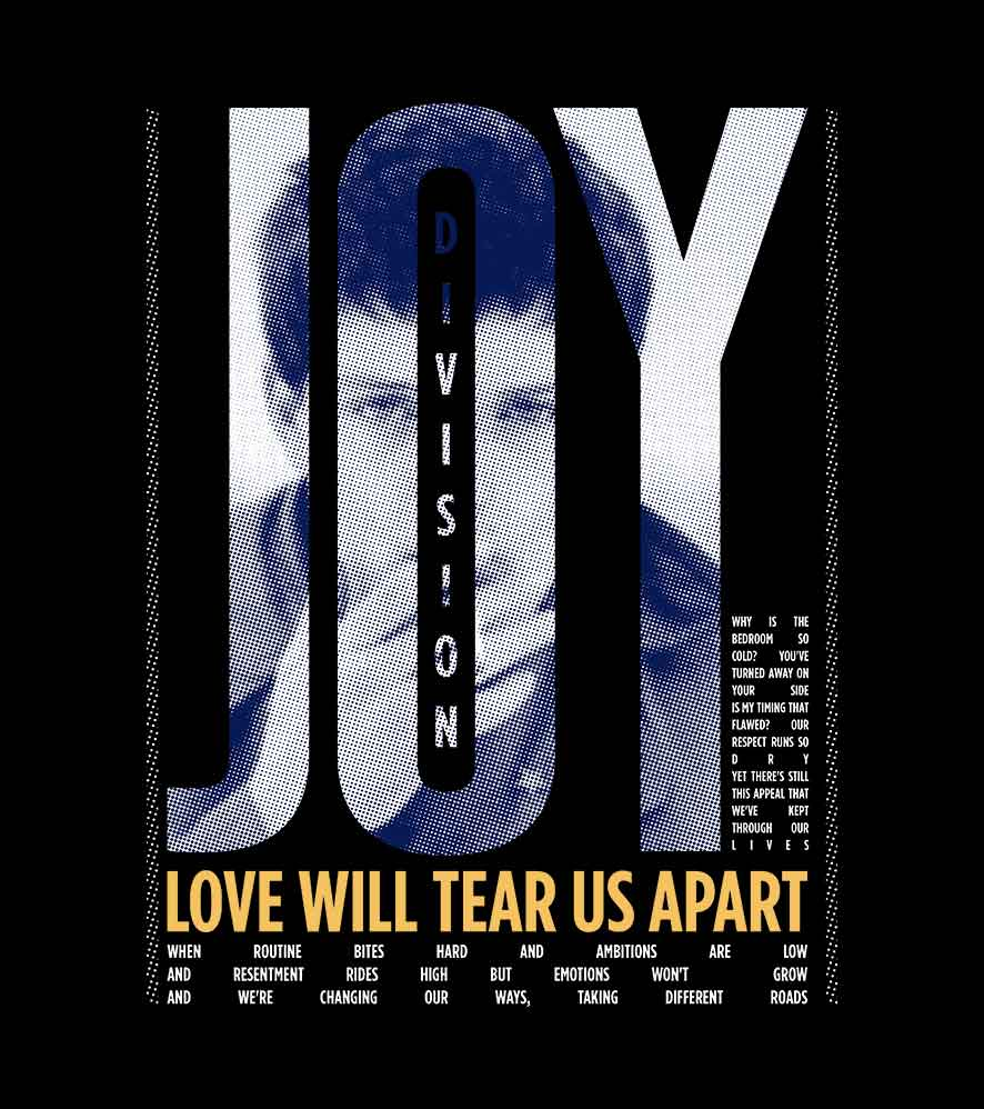 Camiseta Love Will Tear Us Apart - Joy Division - Masculino