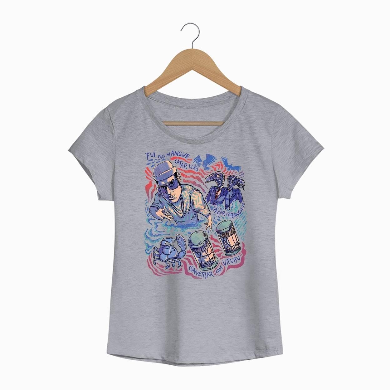 Camiseta Manguetown - Chico Science Nação Zumbi - Feminino