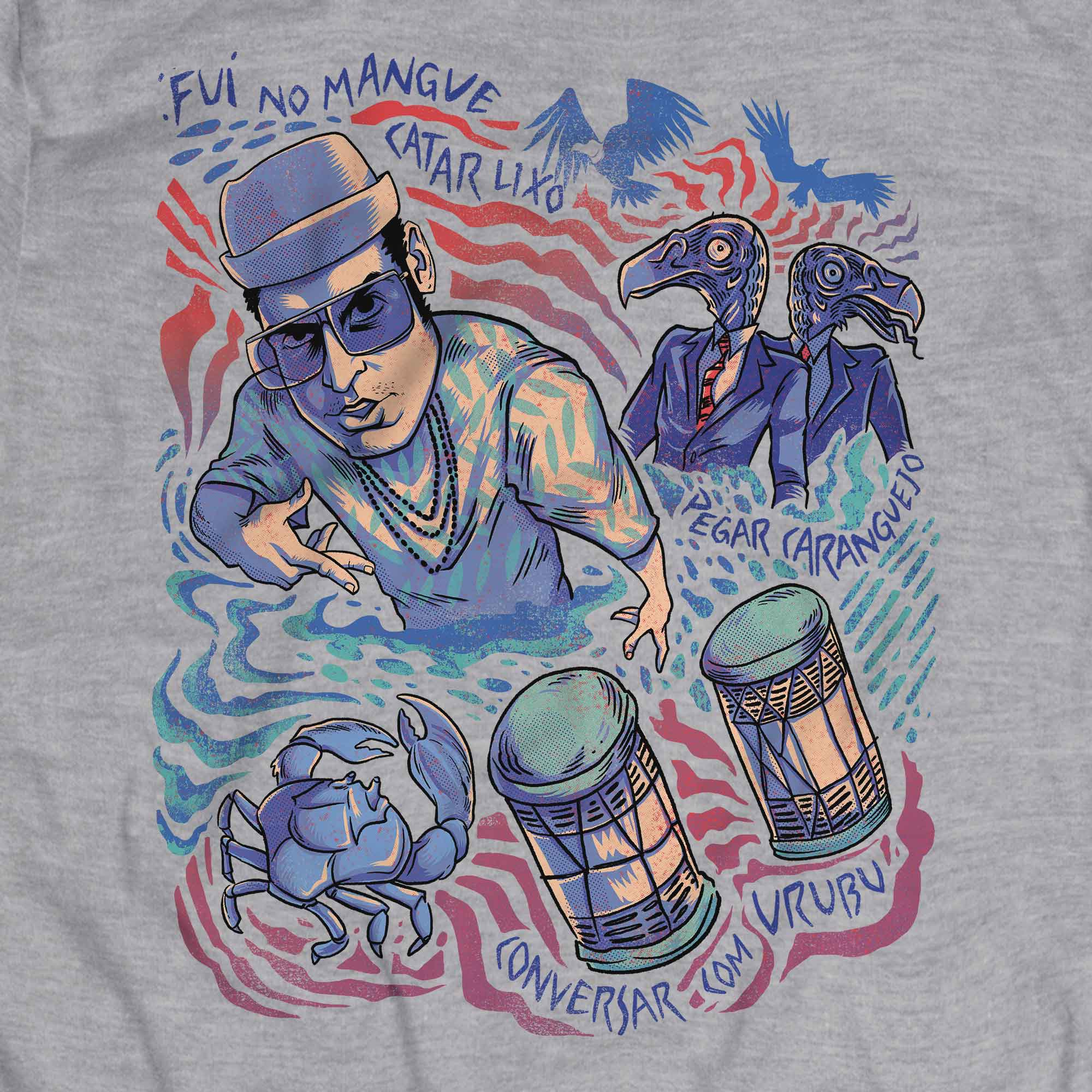 Camiseta Manguetown - Chico Science Nação Zumbi - Masculino