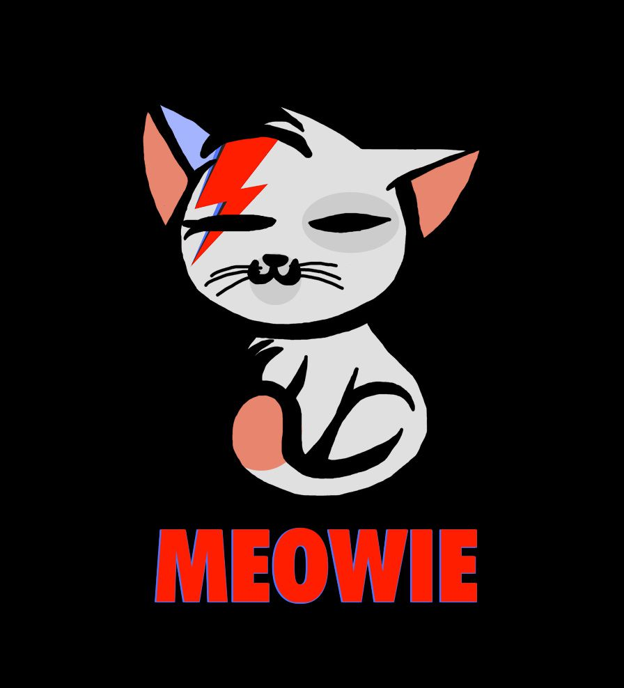 Camiseta - Meowie - David Bowie - Masculino