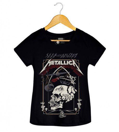Camiseta - Seek and Destroy - Metallica - Feminino
