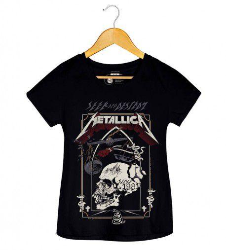 Camiseta - Seek and Destroy - Metallica - Feminino