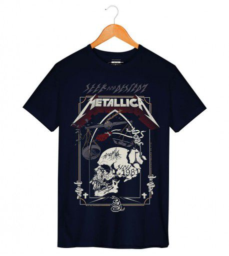 Camiseta - Metallica - Seek and Destroy - Masculino