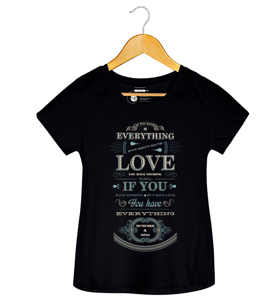 Camiseta - Mumford and Sons - Everything - Feminino