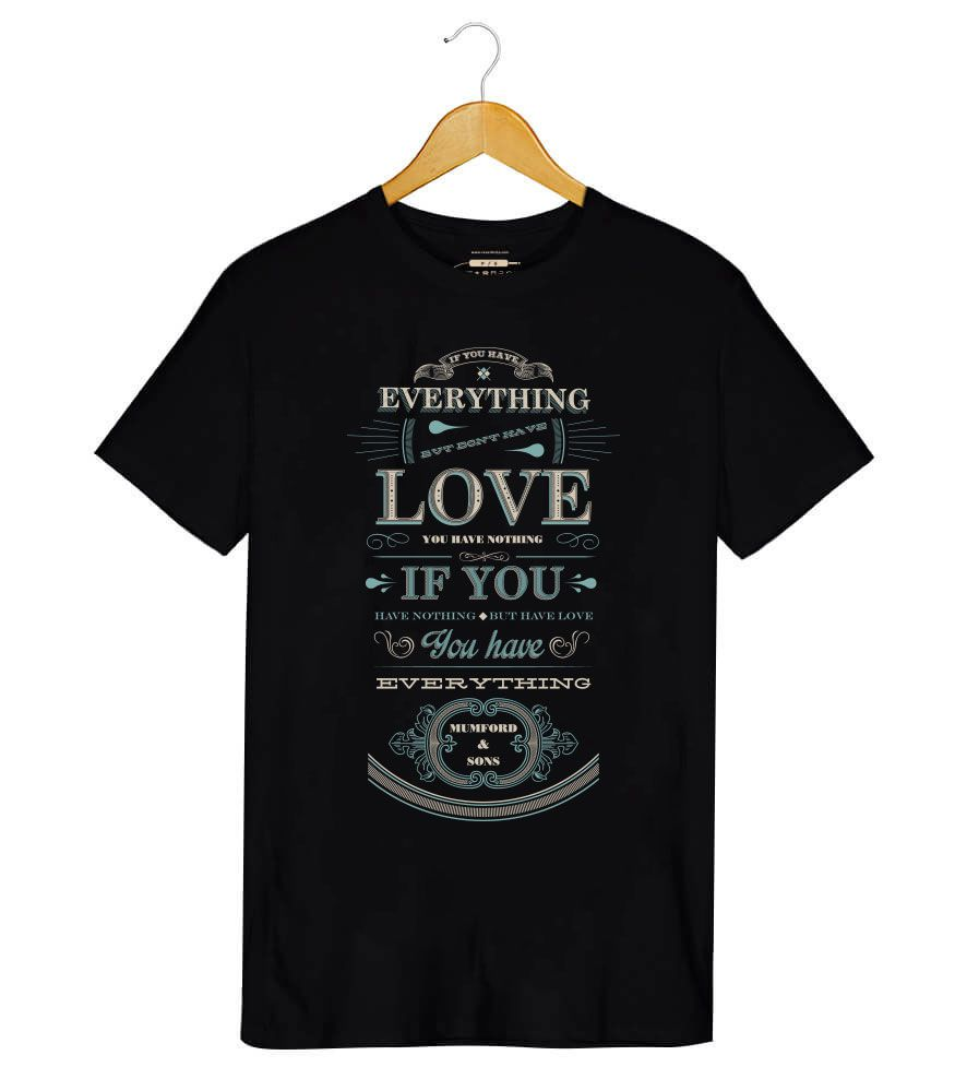 Camiseta Mumford and Sons - Everything - Masculino