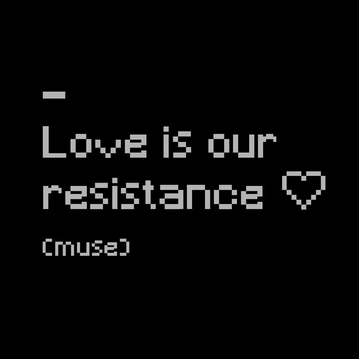 Camiseta Muse - Love is Our Resistance - Feminino