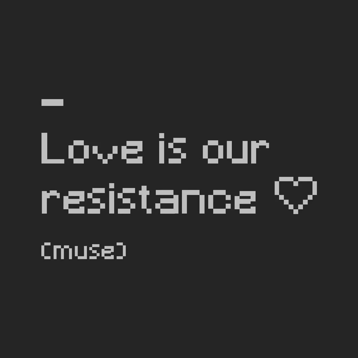Camiseta Muse - Love is Our Resistance - Masculino