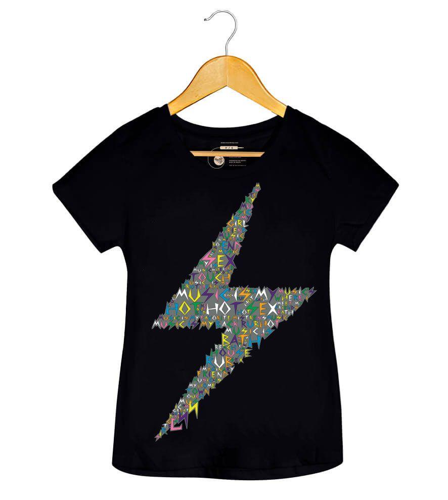 Camiseta - Music is My Hot Hot Sex - CSS - Feminino