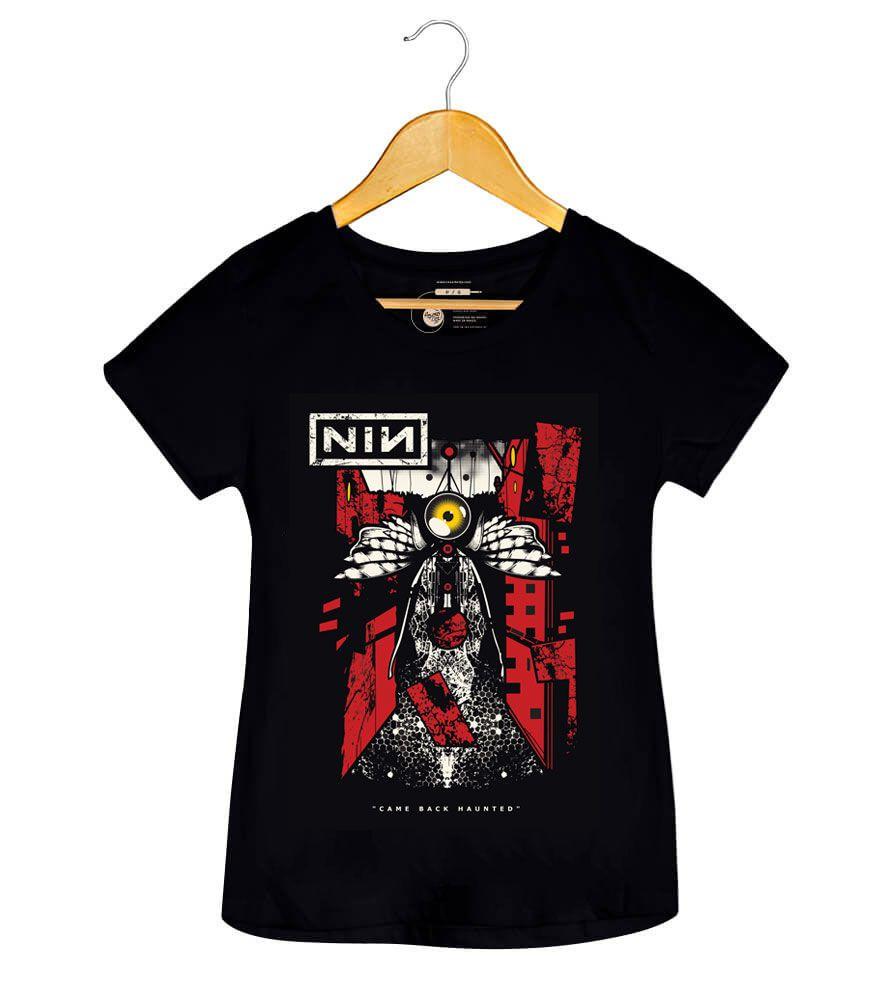 Camiseta Nine Inch Nails - Came Back Haunted - Feminino