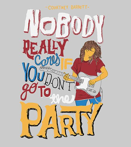 Camiseta - Nobody Really Cares - Courtney Barnett - Feminino