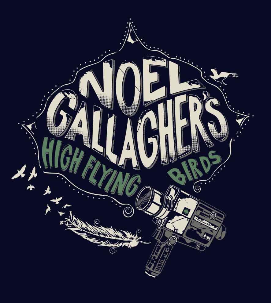Camiseta - High Flying Birds - Noel Gallagher - Masculino