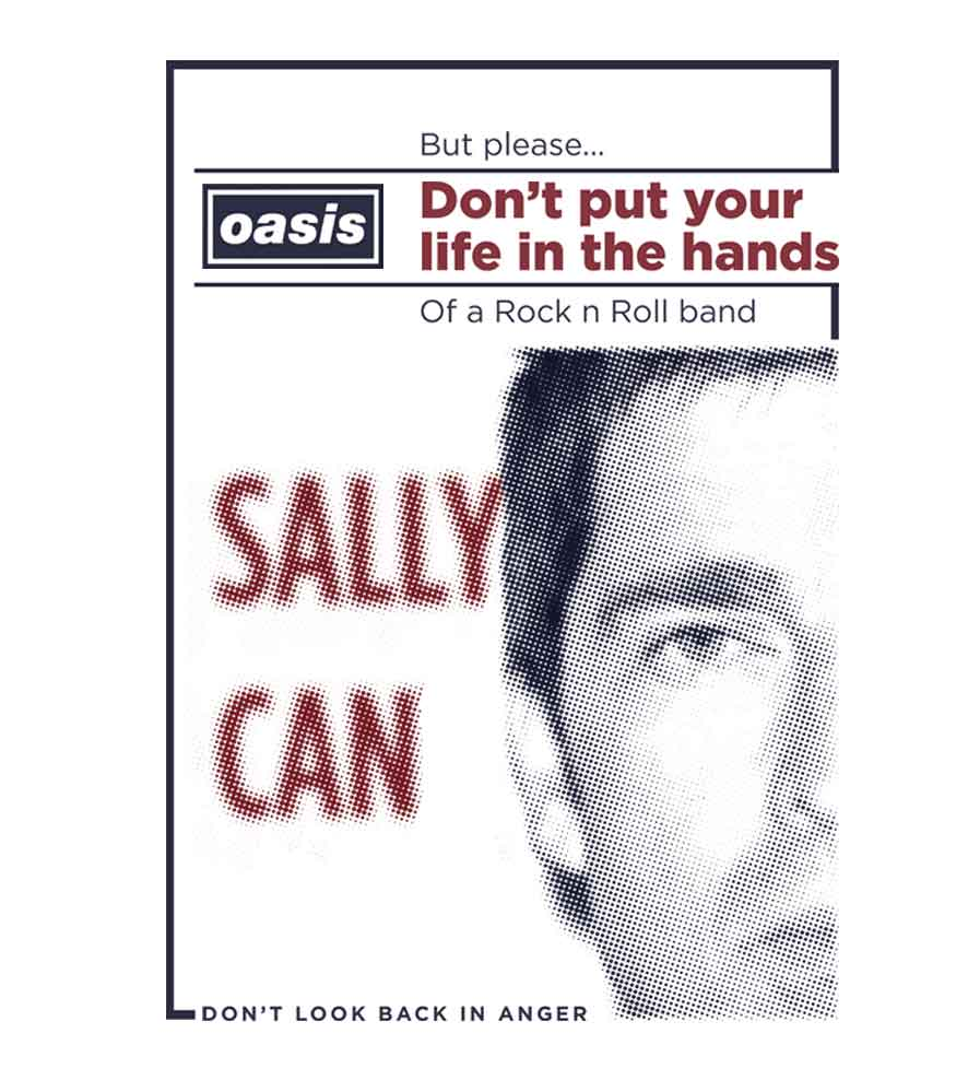 Camiseta Oasis - Dont Look Back In Anger - Masculino