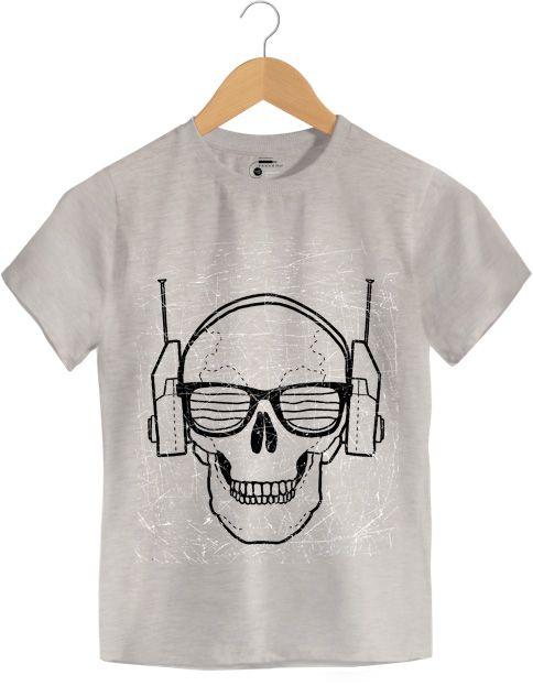 Camiseta - Óculos - Caveira - Infantil