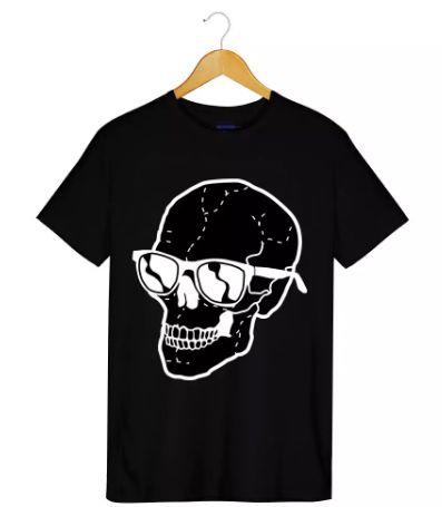 Camiseta - Caveira Óculos - Masculino
