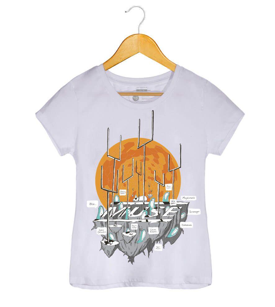 Camiseta - Origin Of Symmetry - Muse - Feminino
