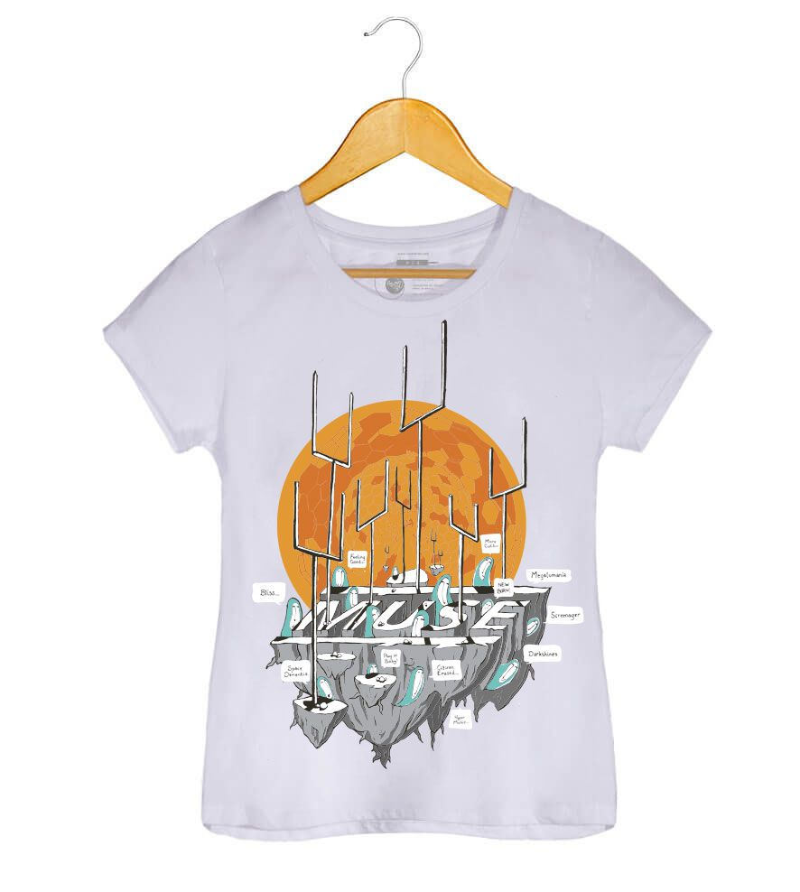 Camiseta Origin Of Symmetry - Muse - Feminino