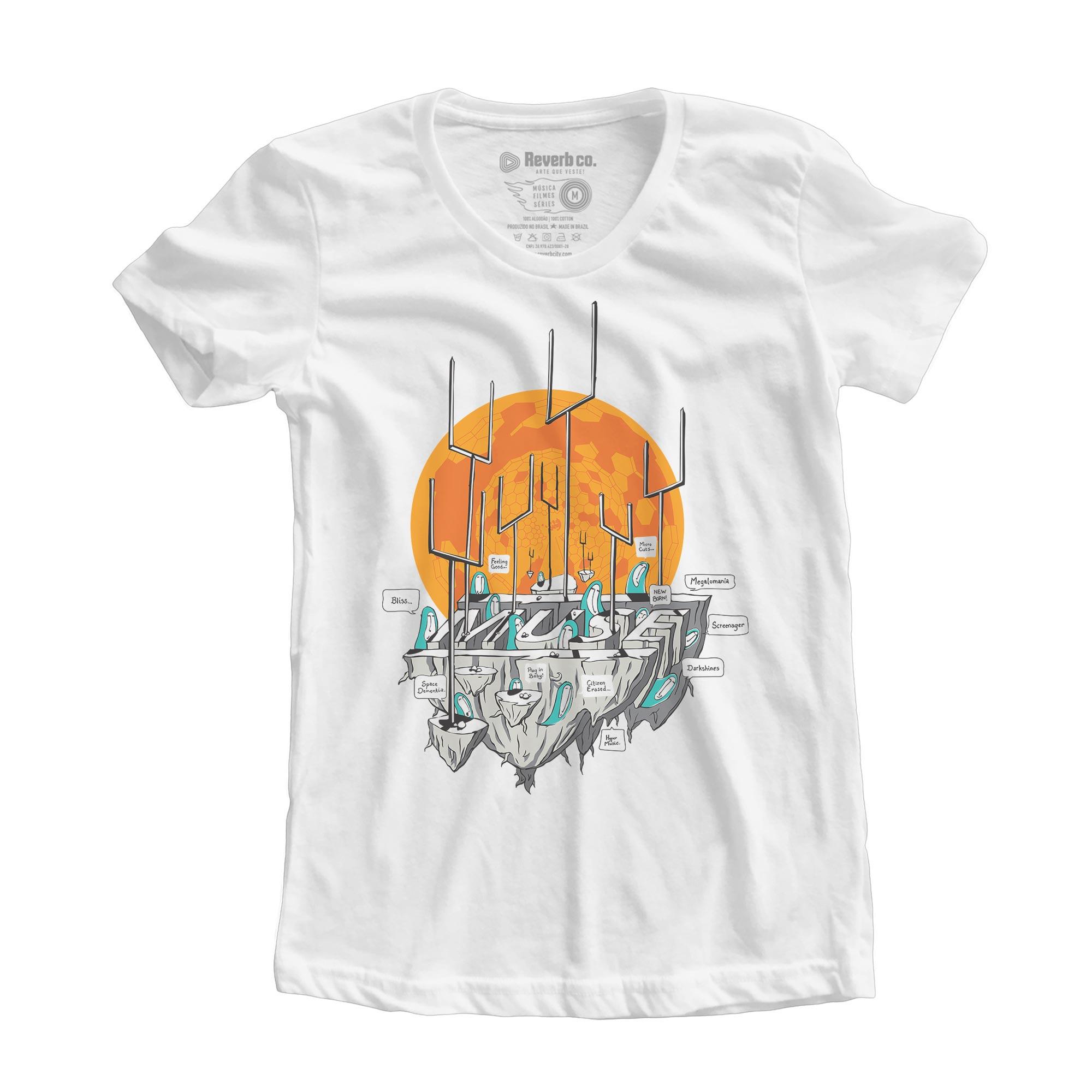 Camiseta Origin Of Symmetry - Muse - Feminino