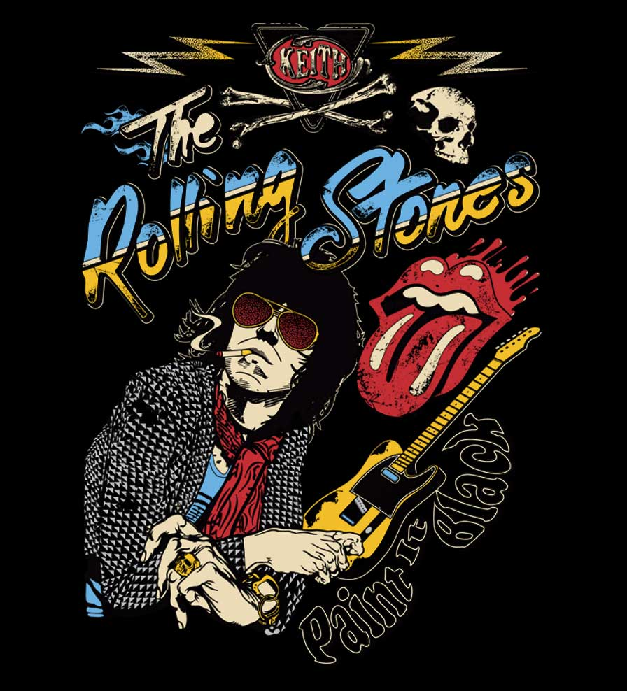 Camiseta - Paint It Black - The Rolling Stones - Feminino