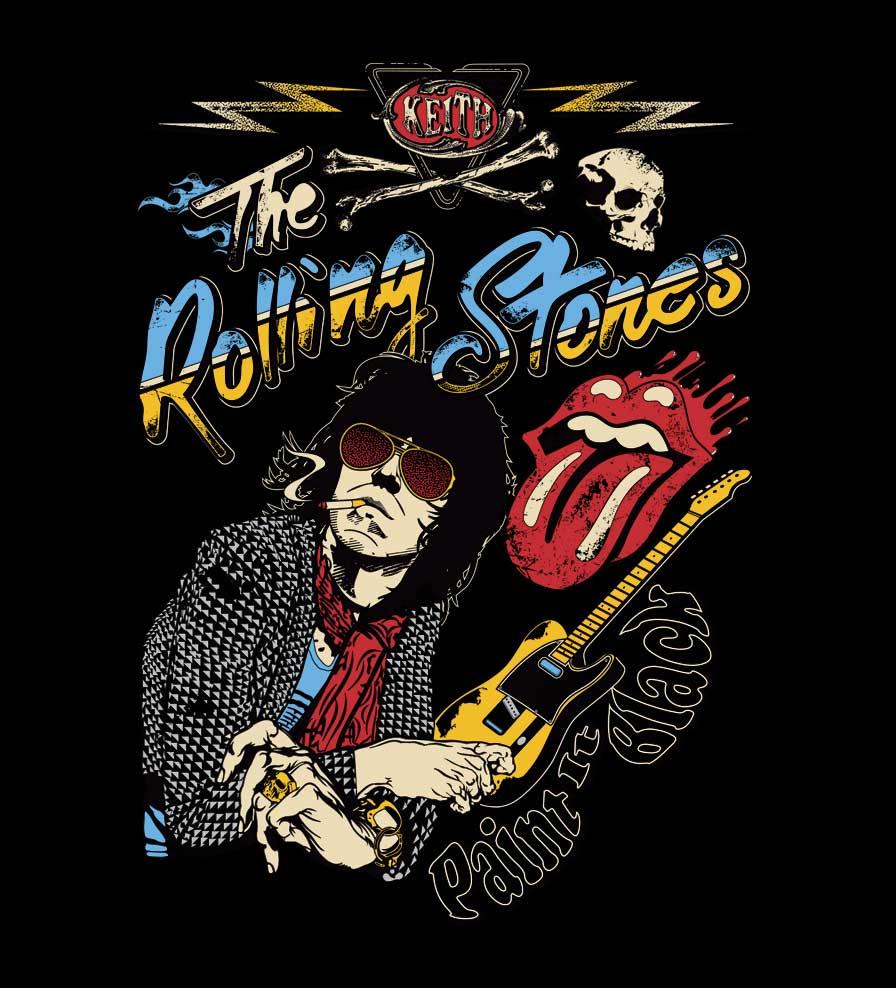 Camiseta - Paint it Black - The Rolling Stones - Infantil
